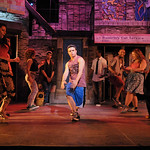 Jorge Barranco and members of the cast in a scene from the SpeakEasy Stage Company production of IN THE HEIGHTS, extended now thru June 16 at the Stanford Calderwood Pavilion at the Boston Center for the Arts, 527 Tremont Street in Boston's South End.  Tix/Info:  617-933-8600 or www.SpeakEasyStage.com</a>.  Photo:  Craig Bailey/Perspective Photo.