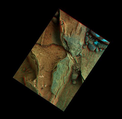 Curiosity sol 270 MAHLI anaglyph