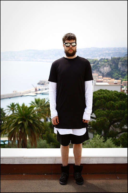 Tuukka13 - Greetings from Nice, France - WDYWT - Damir Doma Sneakers, Dries Van Noten Shorts and Apron, Givenchy Long Sleeve and ADYN Tall Zipper T-Shirt -1