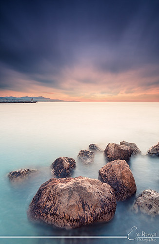 sea mer lighthouse seascape france sunrise canon landscape photography spring rocks europe côtedazur paysage phare canonef1740mmf4lusm waterscape frenchriviera villeneuveloubet alpesmaritimes provencealpescôtedazur 2013 singhray canoneos5dmarkii ericrousset darylbensonsinghray3stopreversegndfilter