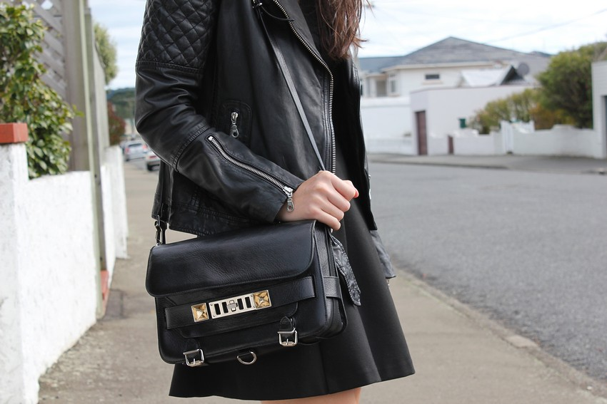 whistles leather jacket proenza schouler ps11 bag mademoiselle fashion blog