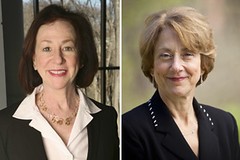 Grace Zimmerman and Marcia Katz, Brandeis IBS faculty award winners
