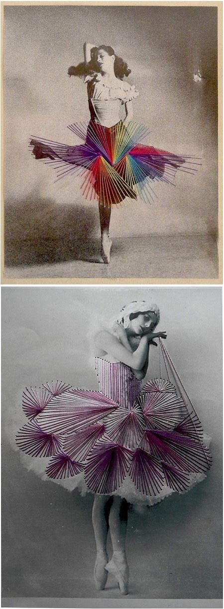string art ballerinas