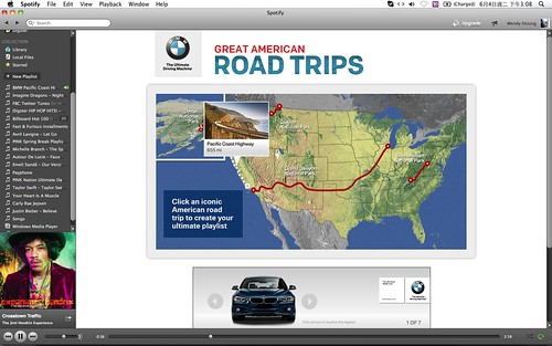 2013 BMW Great American Road Trips campaign@Spotify_07