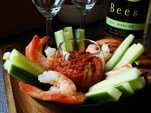 Shrimp Cocktail with Muhammara