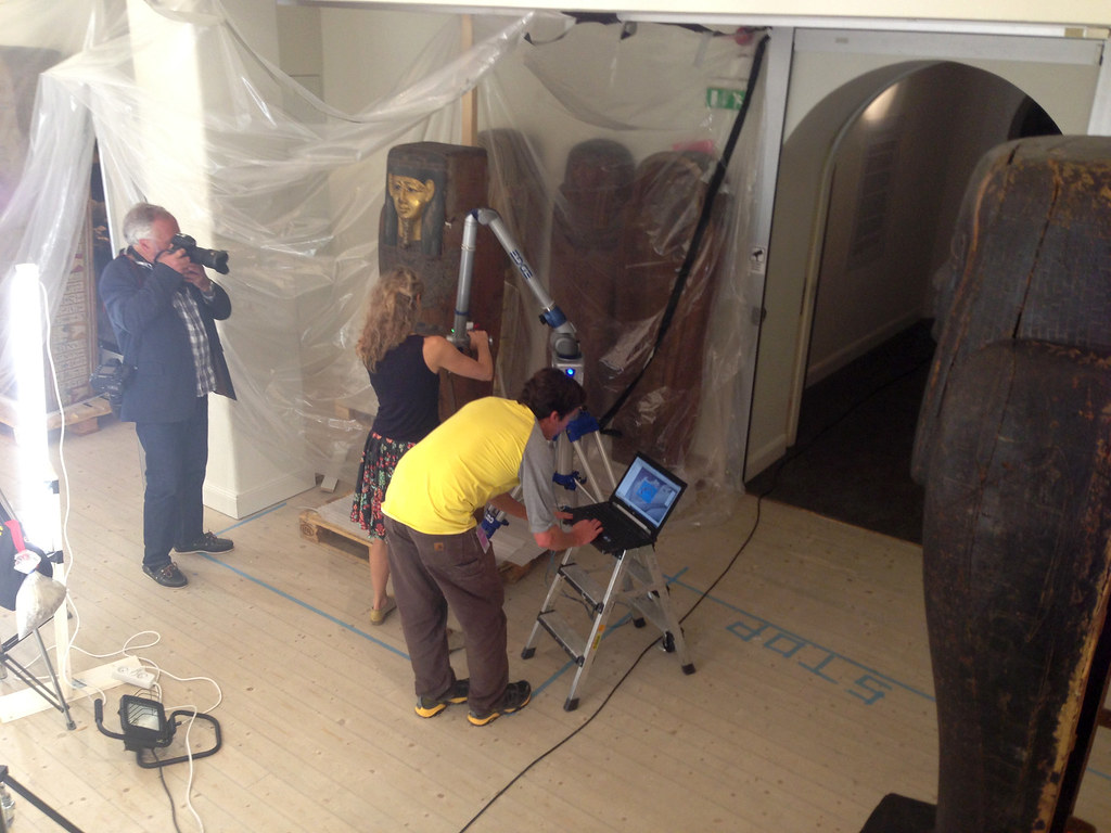 Laser scanning at The Museum of Mediterranean and Near Eastern Antiquities in Stockholm