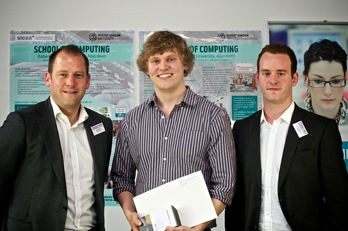 Findlay Mack awarded the Dynamic Edge Prize, presented by Rob Hamilton and Scott Baxter