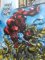 book(0.0), comic book(0.0), art(1.0), superhero(1.0), mural(1.0), fiction(1.0), cartoon(1.0), illustration(1.0), comics(1.0),