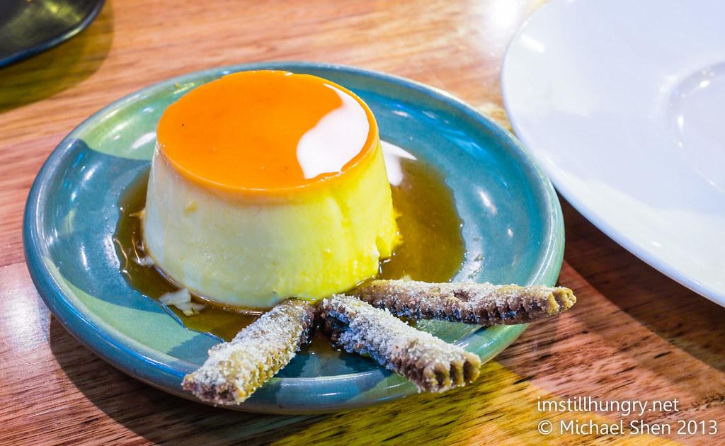 Flan - créme caramel served w/pestinos movida sydney