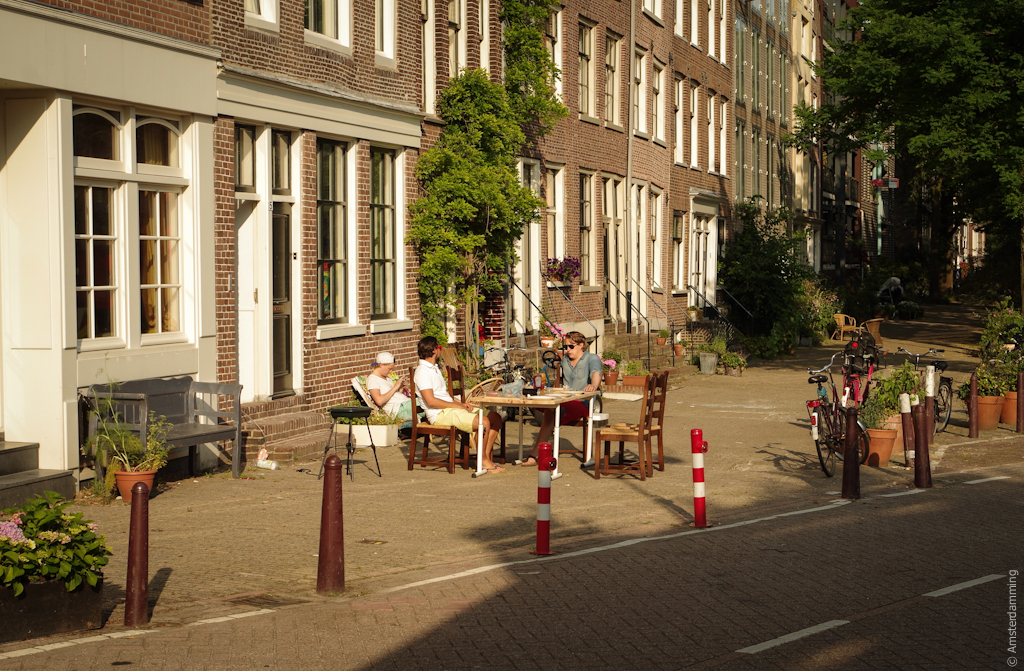 Amsterdam, Dutch Summer Habits: Having Dinner on the Street