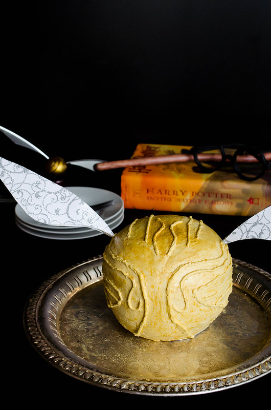 Golden Snitch Cake (Gluten Free)