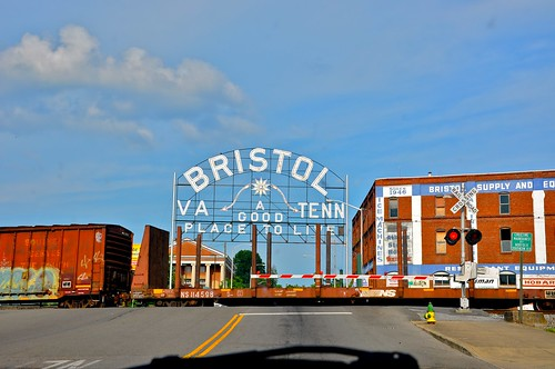 Bristol VA Sign - Virginia and Tennessee