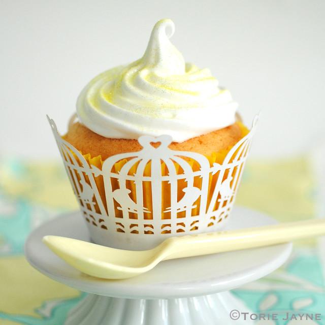 Gluten free lemon meringue cupcake