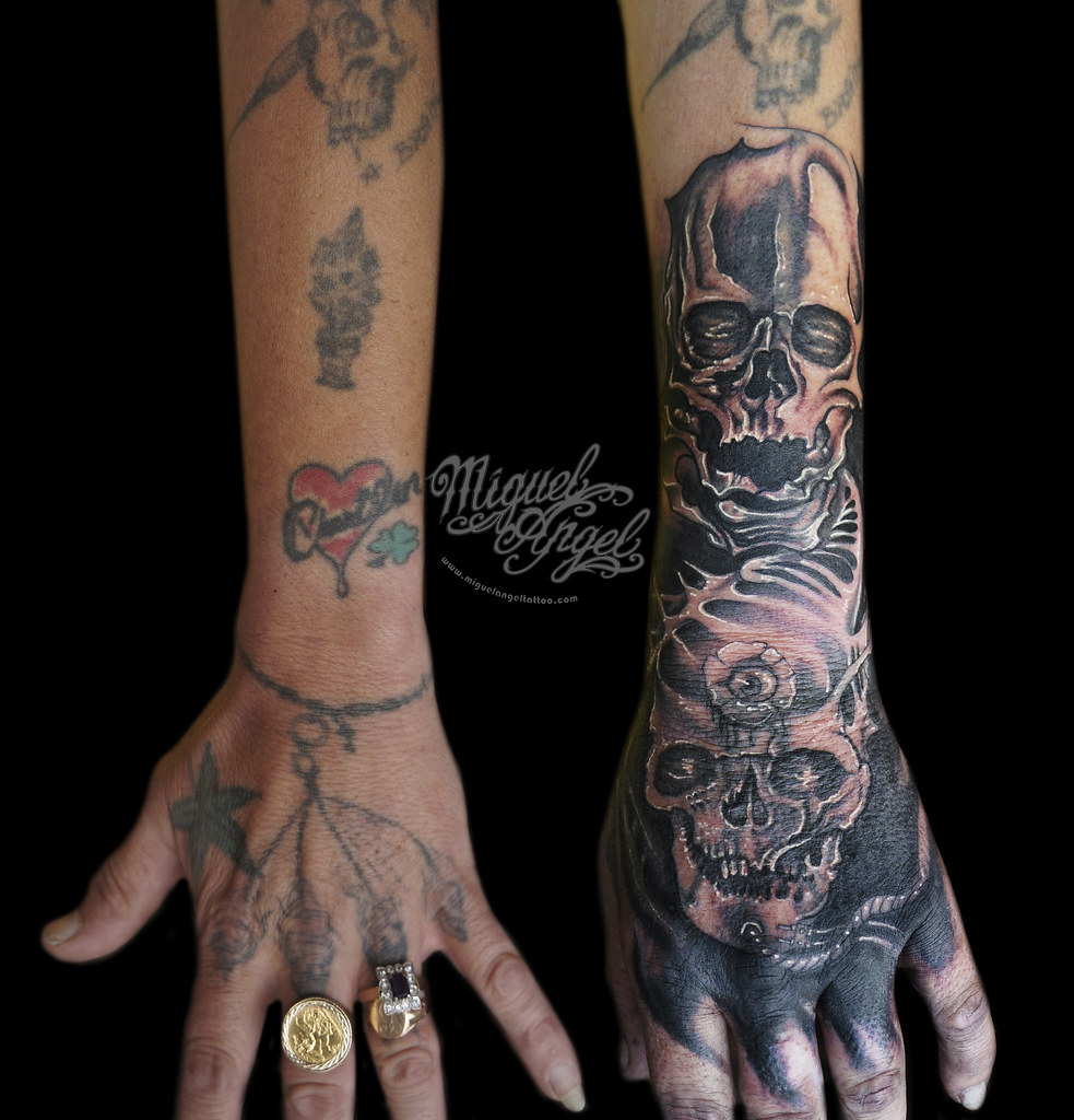 Skull Tattoo Cover Up W Hernandezmilosh Design Miguel A Flickr