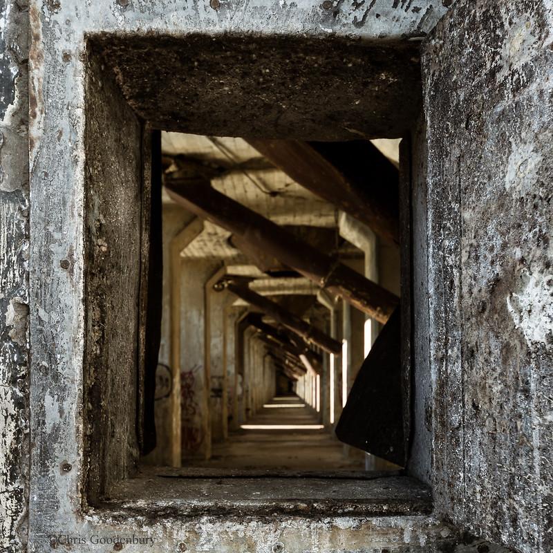 Barren, Deserted Halls   Concrete Central Grain Elevator