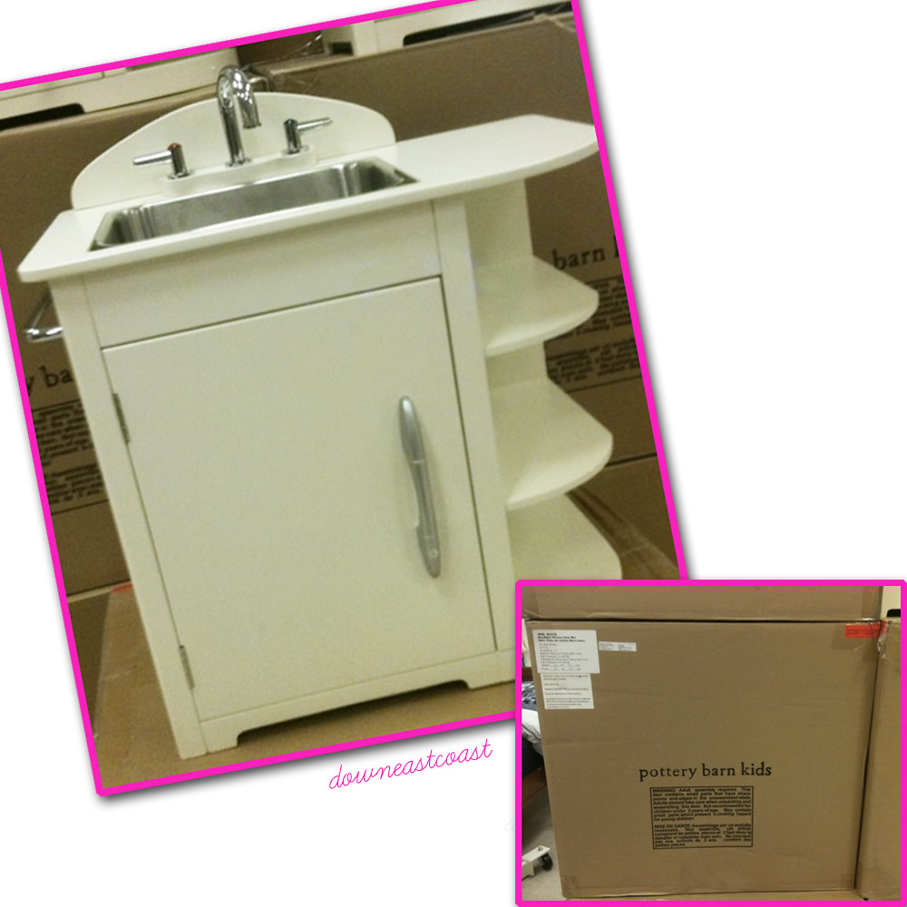 Barn Kitchen Sink : Details about NEW Pottery Barn Kids Retro Kitchen Sink in White Color ...