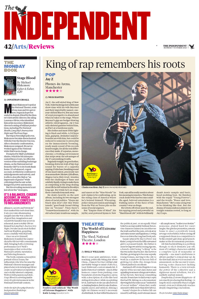 Jay-Z in The Independent