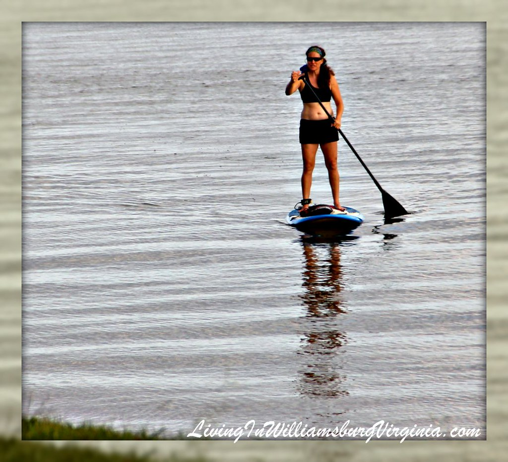 Paddle Boarding On The James