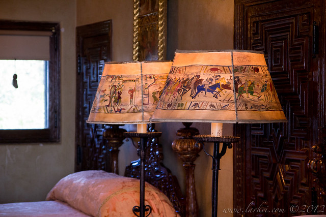 Bayeux Tapestry Lampshades, Hearst Castle, San Simeon, California