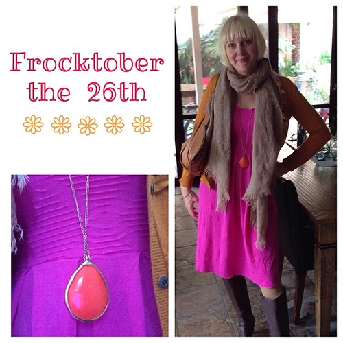 #frocktober the 26th. Not long now and $1150 donated! Thank you x Thanks also @metalicusaustralia for this lovely pink frock.
