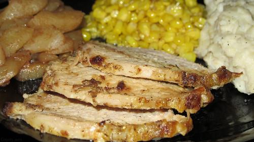 Roasted pork loin dinner by Coyoty