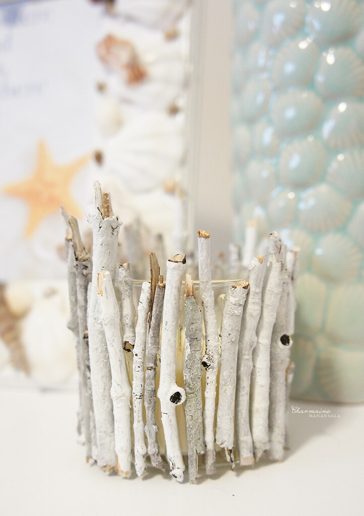 DIY Twigs Candle Holders