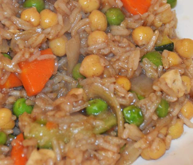 Rice And Vegetable Supper Recipe with Chickpeas and Vegetables