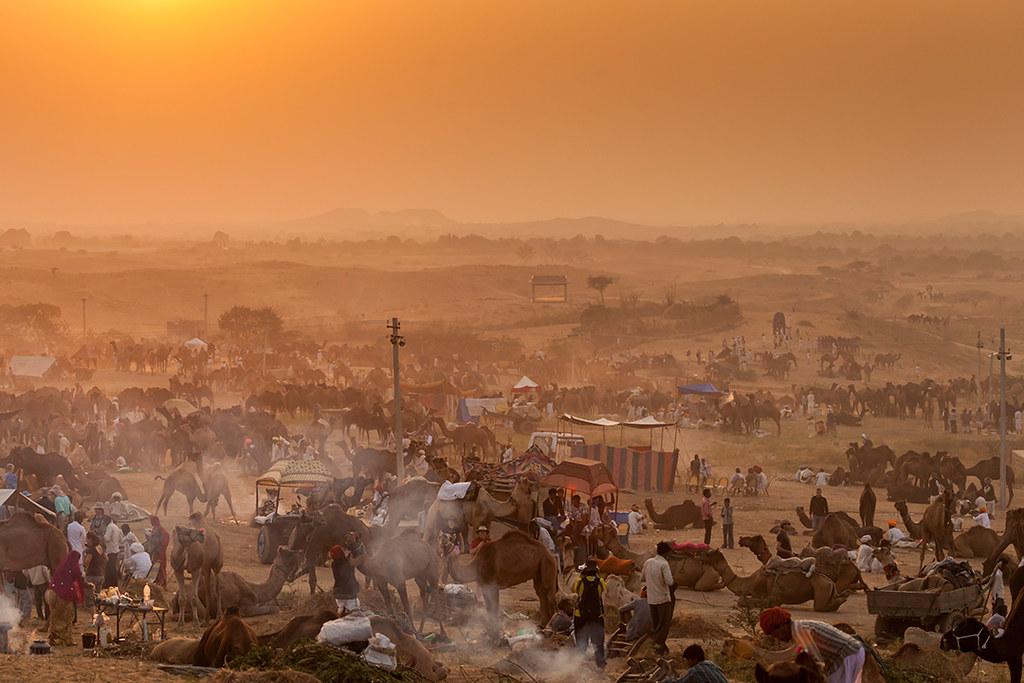 Sunset @ Pushkar Mela 2012