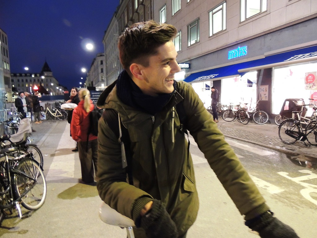 One Bike Night in Copenhagen
