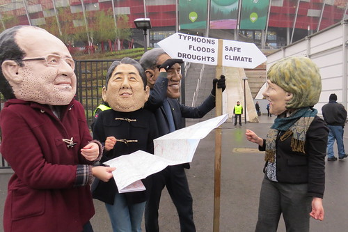 The Oxfam Big Heads wonder which climate road to follow after Warsaw fiasco