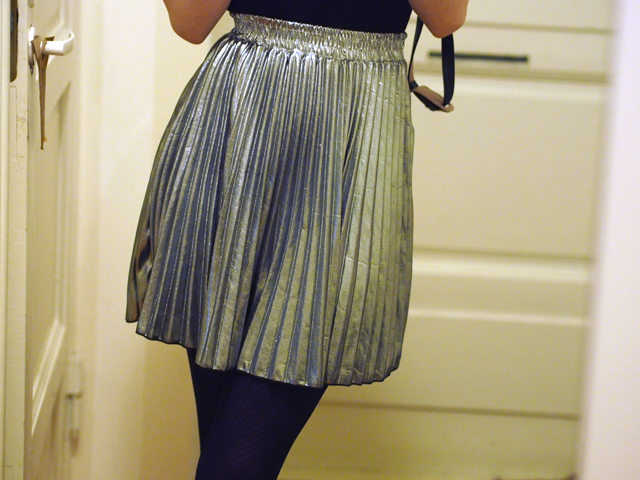 silver skirt choies