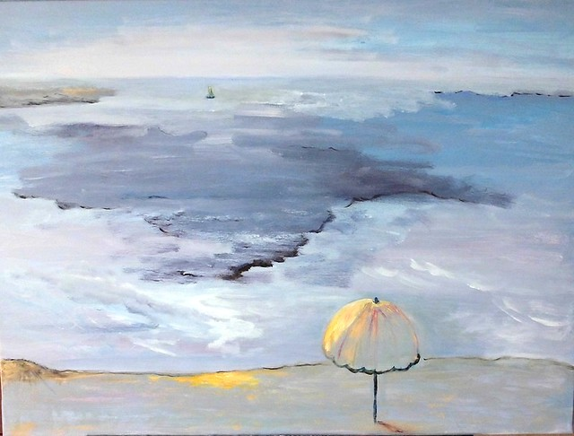 El mar con sombrilla. Море с зонтиком