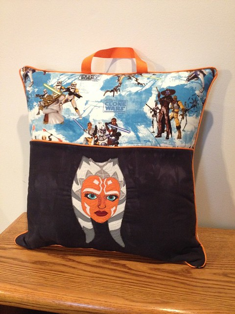 Ahsoka Tano reading pillow