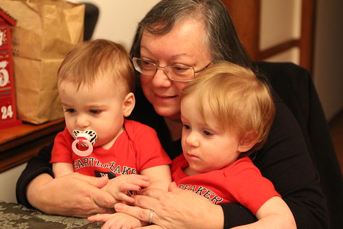 Nana watching Elmo with the Boys
