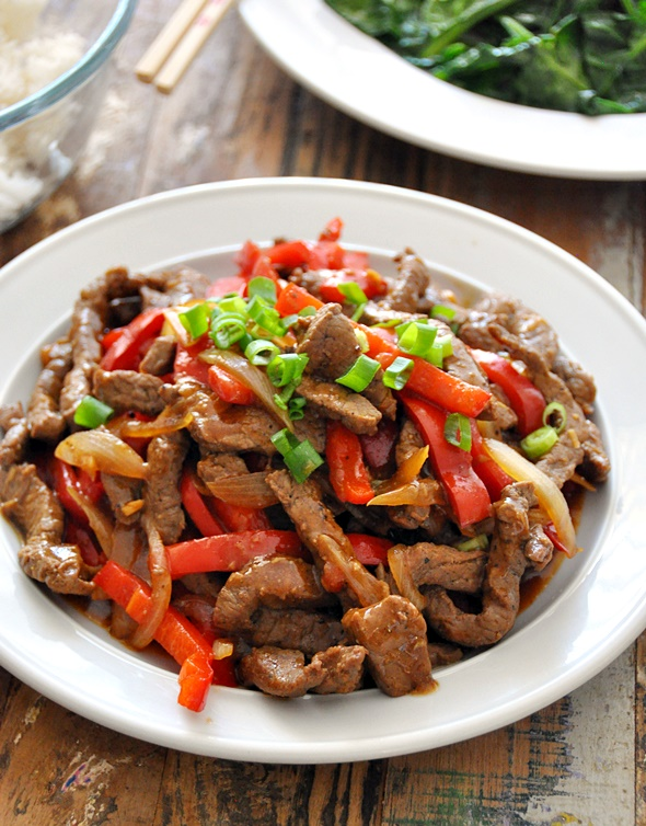 70 Grinds Peppered Beef Stir Fry | www.fussfreecooking.com