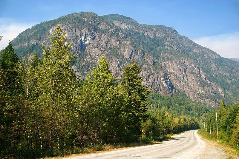 Bella Coola Road (Hwy 20) Hagensborg, Bella Coola Valley, Coast of Central British Columbia
