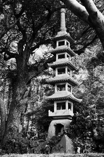 stone pagoda - monochrome edition