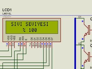 Pic16F877 ve 2X16 LCD ile Sıvı Seviye Kontrolü