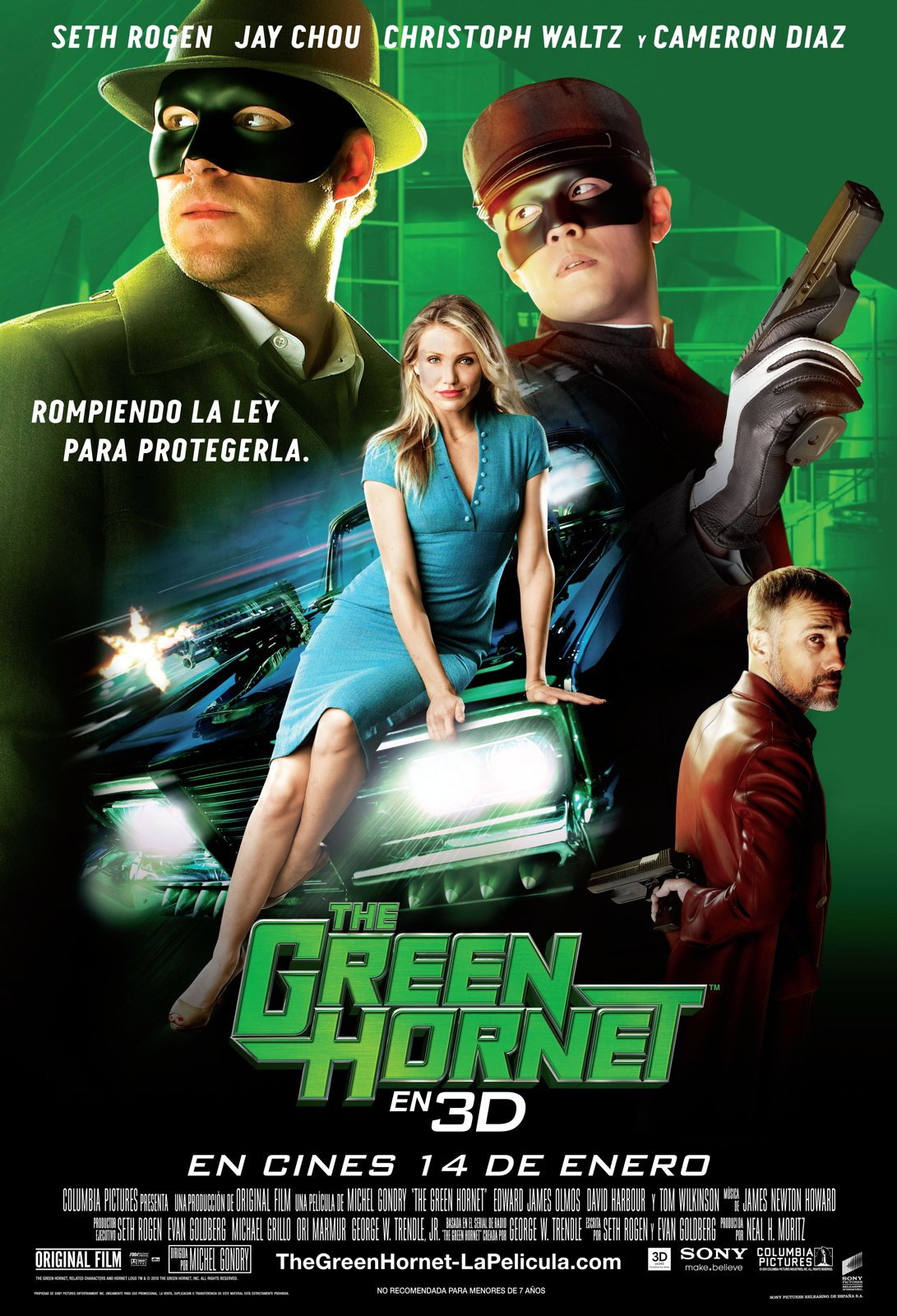 The Green Hornet (2011) | Amazing Movie Posters