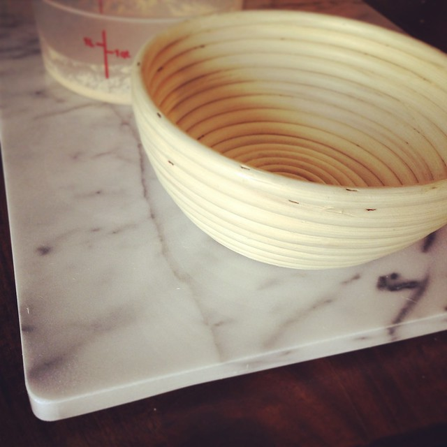 Marble pastry board & Proofing basket