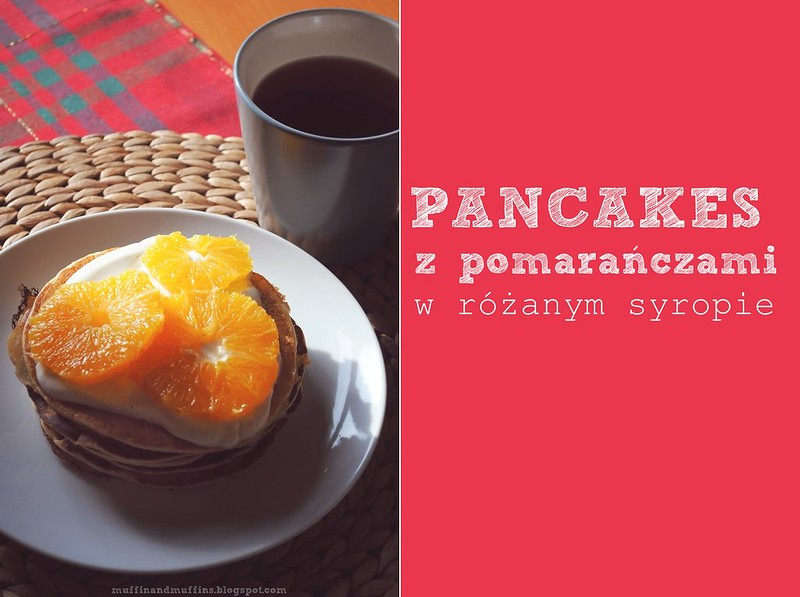 Pancakes with oranges in rose water syrup