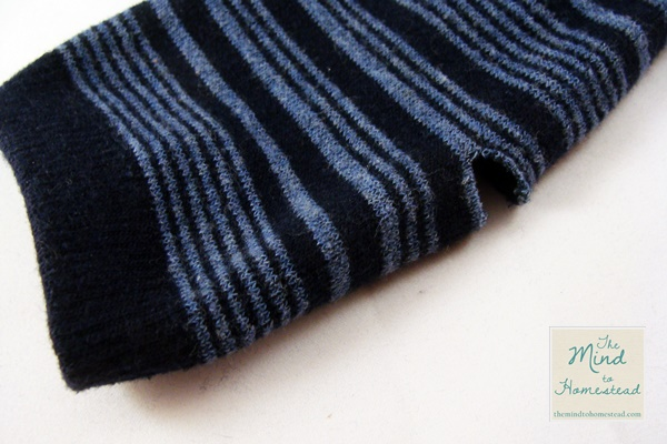 Old Socks to Handwarmers Upcycle - The Mind to Homestead