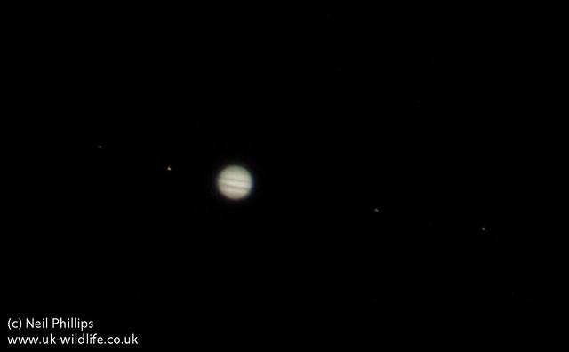 jupiter + 4 moons