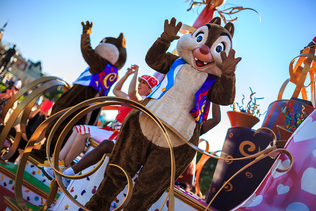 Chip & Dale in the Move It Shake It Celebrate It Street Party