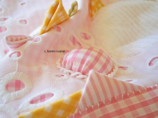 gingham, knots, bumps...pillows and pages