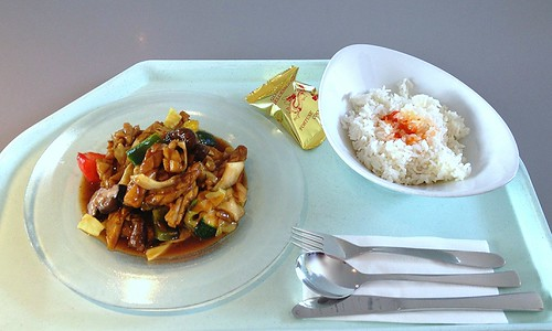 Gung Po Jau Yu - Tintenfisch in Hoisin-Sauce / Squid in hoisin sauce