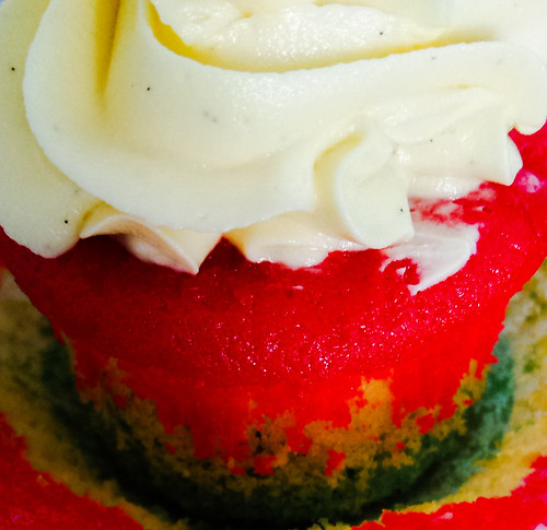 Ghana Flag Cupcakes