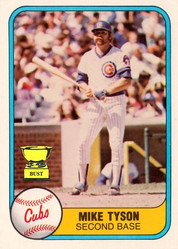 Baseball Card Bust Mike Tyson 1981 Fleer