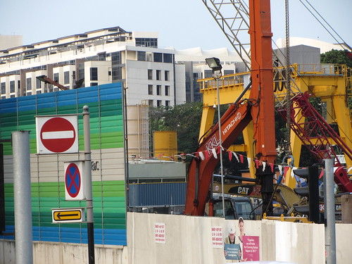 colors even st construction site