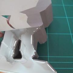 วิธีทำโมเดลกระดาษ ตุ้กตาไลน์ หมีบราวน์ ถือพลั่ว (Line Brown Bear With Shovel Papercraft Model -「シャベル」と「ブラウン」) 027